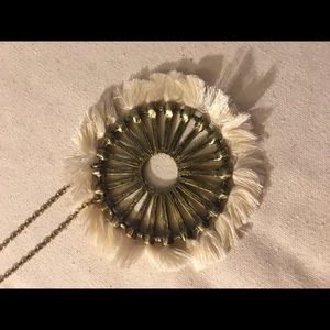 Beautiful Libby Edelman necklace with cream fringe
